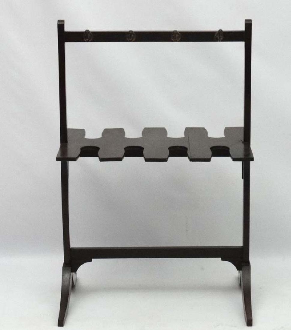 A late Georgian Mahogany Whip- Rack ( and boot rack - 2