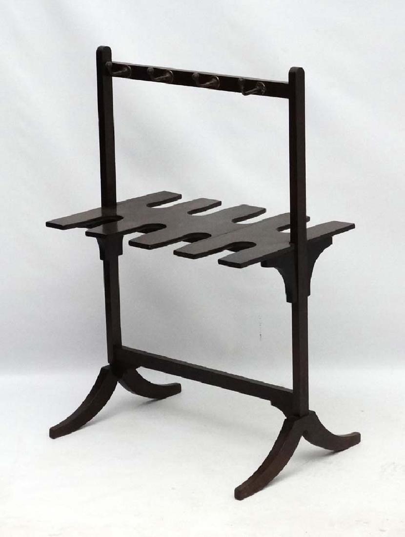 A late Georgian Mahogany Whip- Rack ( and boot rack - 3