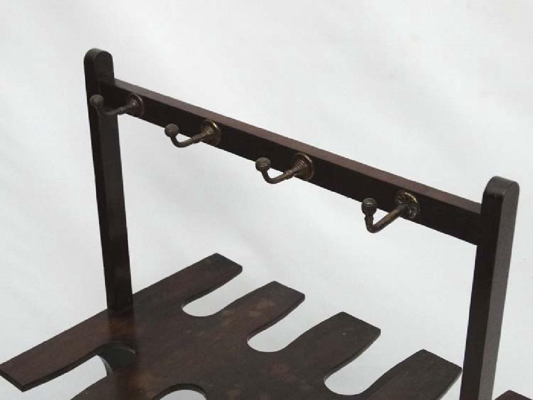 A late Georgian Mahogany Whip- Rack ( and boot rack - 4