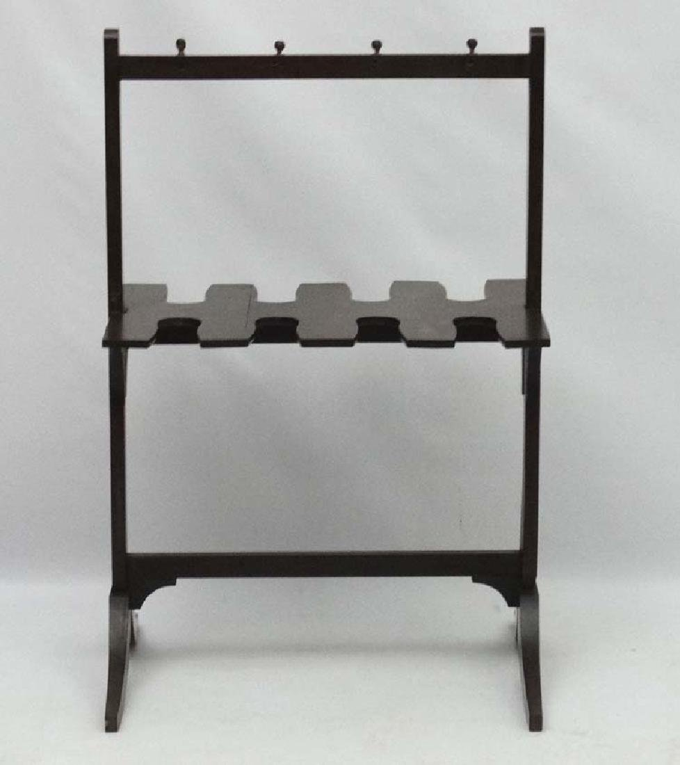 A late Georgian Mahogany Whip- Rack ( and boot rack - 5