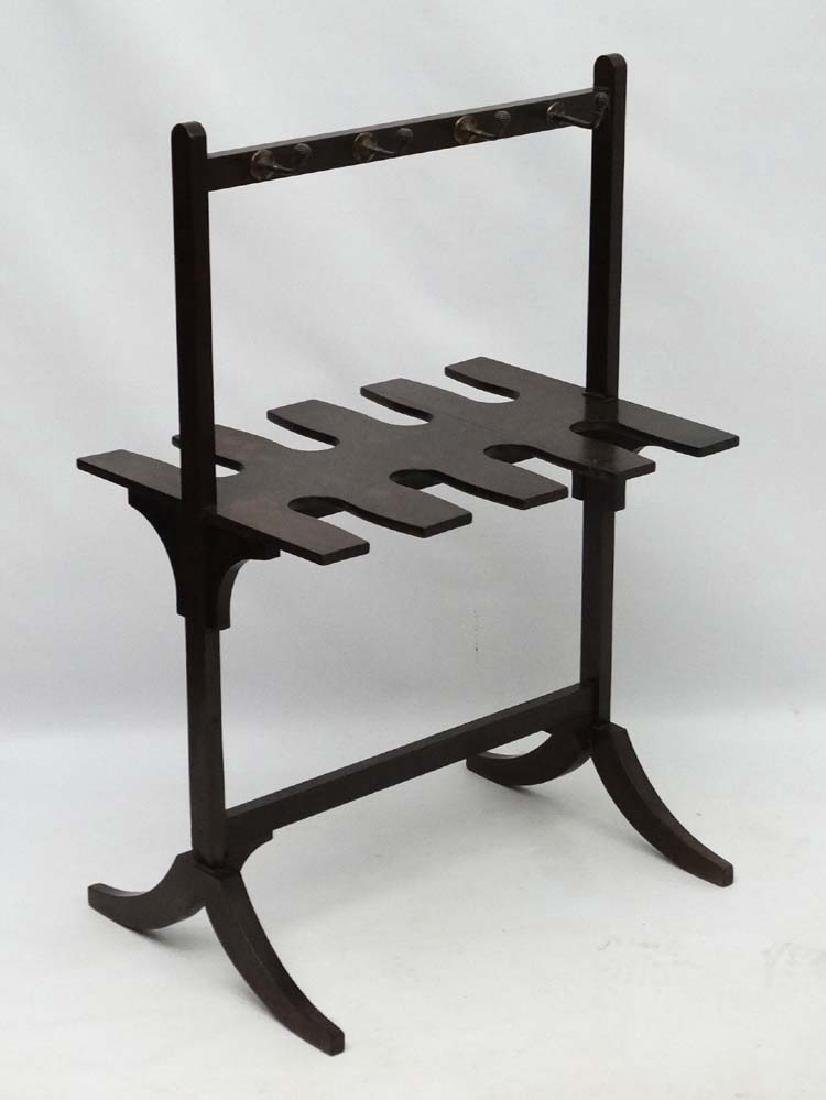A late Georgian Mahogany Whip- Rack ( and boot rack - 6