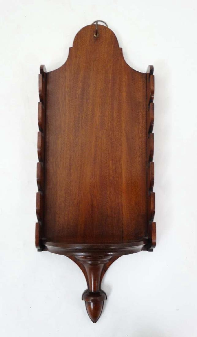 Equestrian: A small wall mounted mahogany whip rack, to - 3