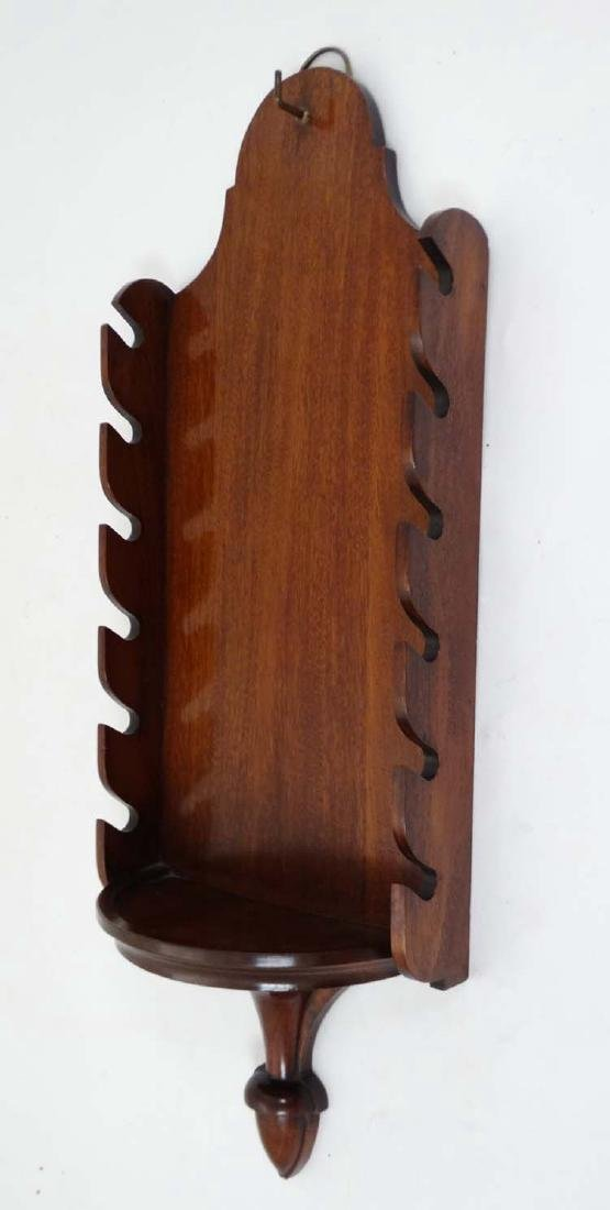 Equestrian: A small wall mounted mahogany whip rack, to - 4
