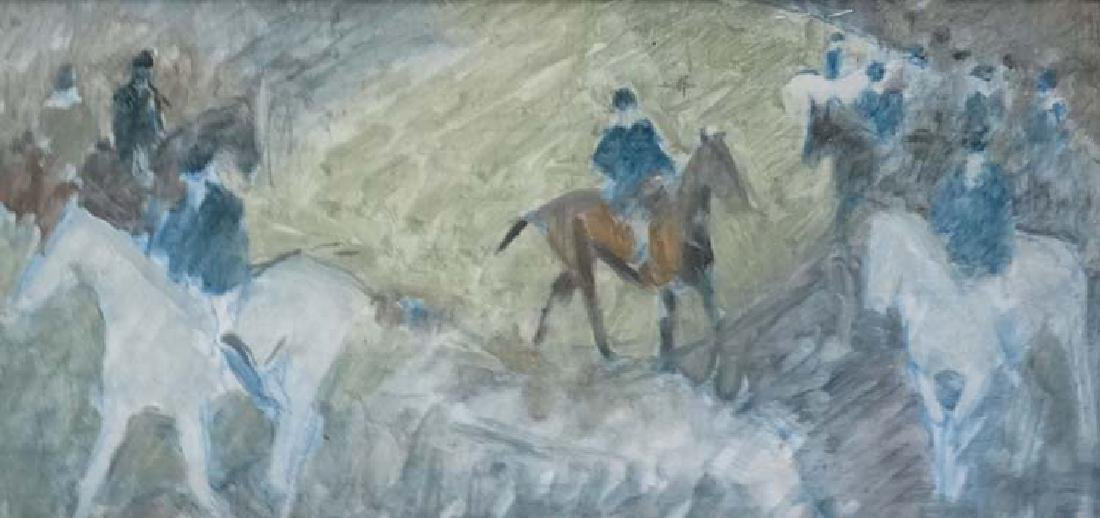 Manner of Sir Alfred Munnings, XX,  Mixed media on - 3