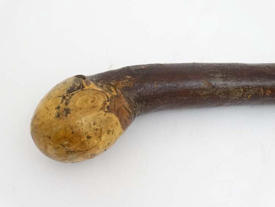 Walking Stick : A Hazel Shafted hand made Walking Stick - 3