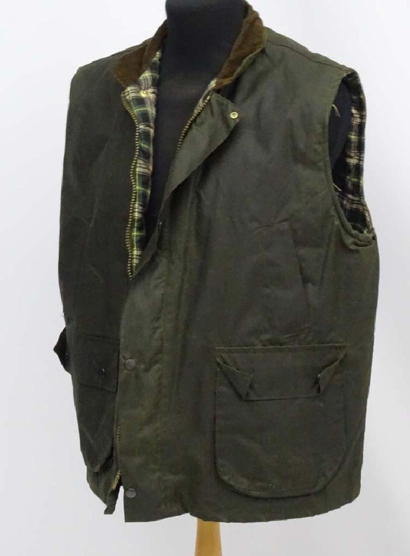 A Green waxed gilet, size XL - 3