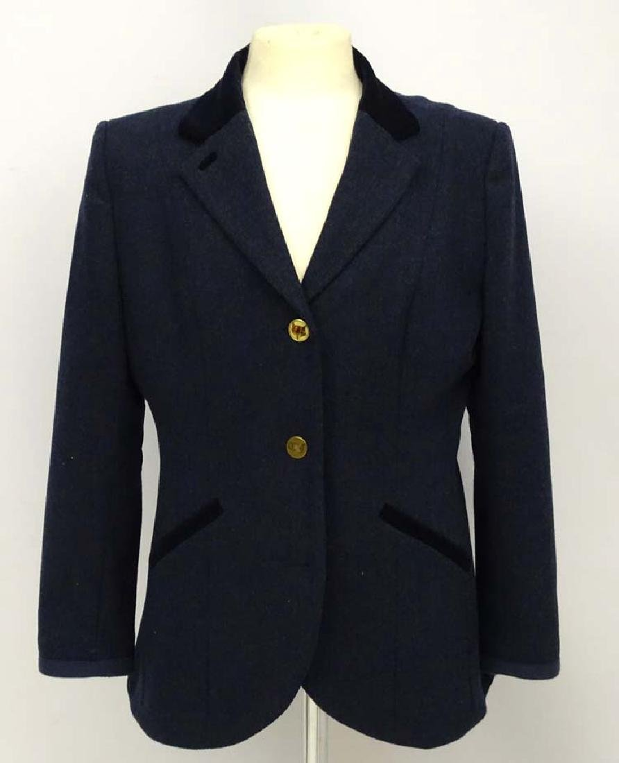 Joules ladies tweed jacket/blazer navy blue, with