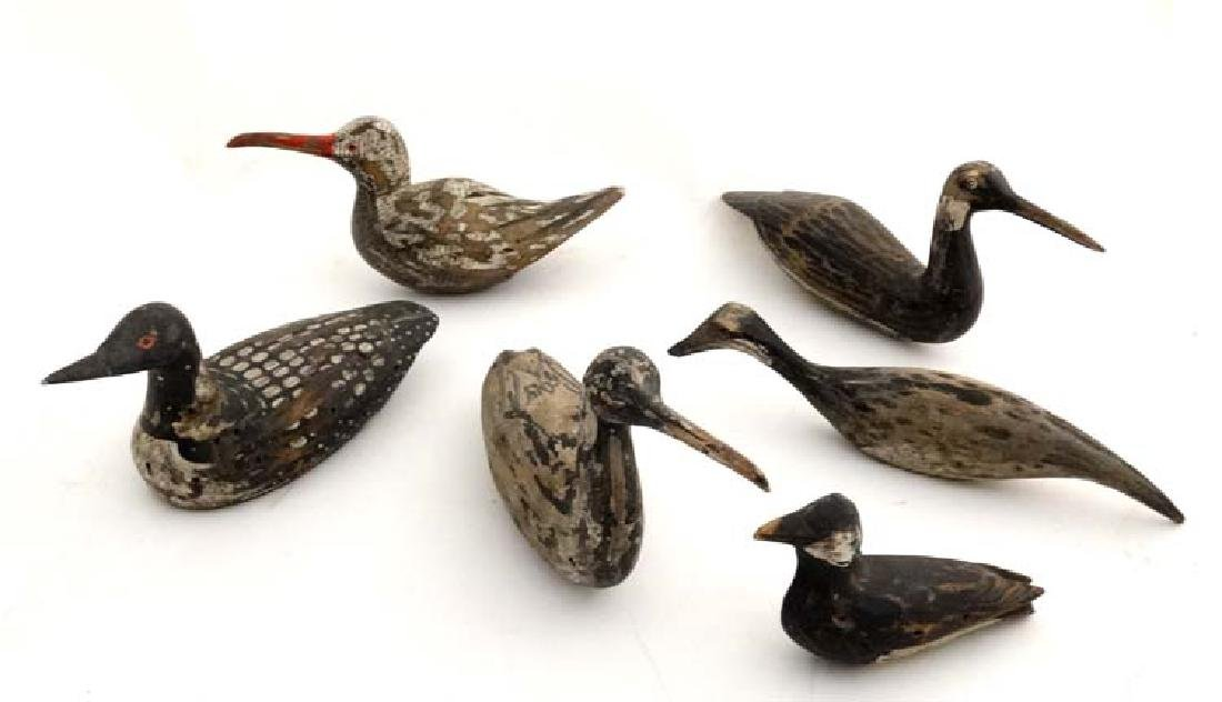 A group of 6 early 20thC Carmargue wildfowling decoys ,