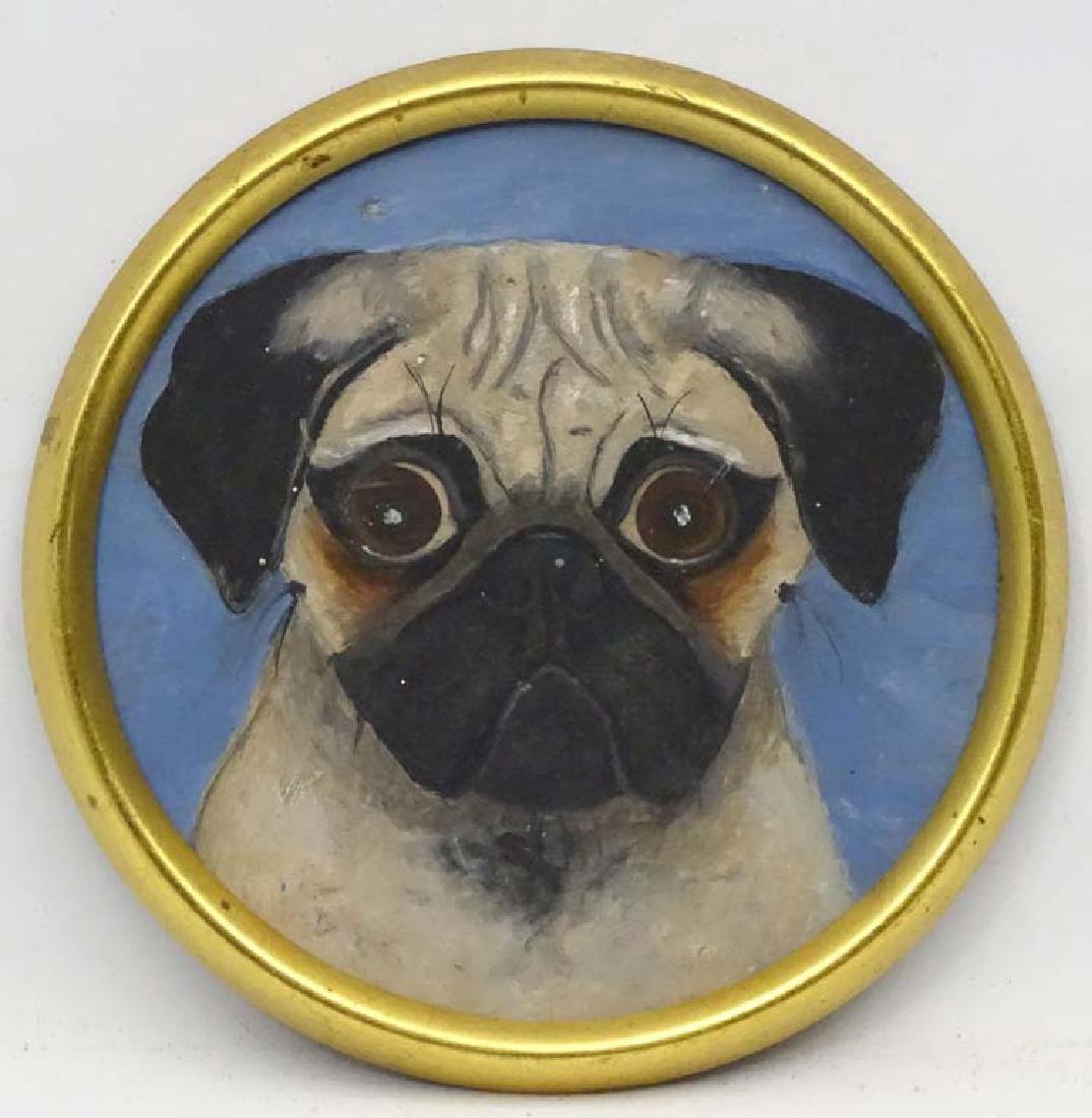 Barbara Hyde ,  late XX Canine school, Oil on board , a
