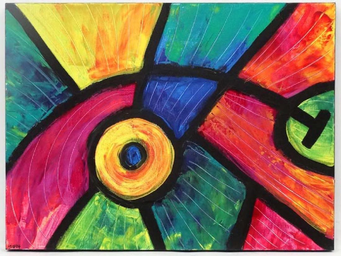 Amanda Hone (1964), Acrylic on box canvas 2004, '