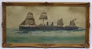 C. 1900 Neapolitan School, Watercolour and gouache, A