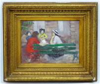 Early  Mid French Impressionist School Oil on canvas