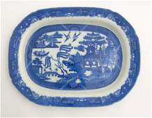 A late 19th  early 20thC blue and white transfer