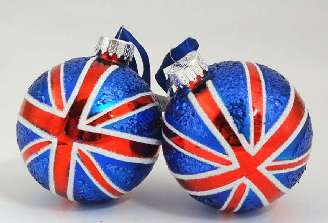 Christmas Decorations : Two Christmas tree baubles with