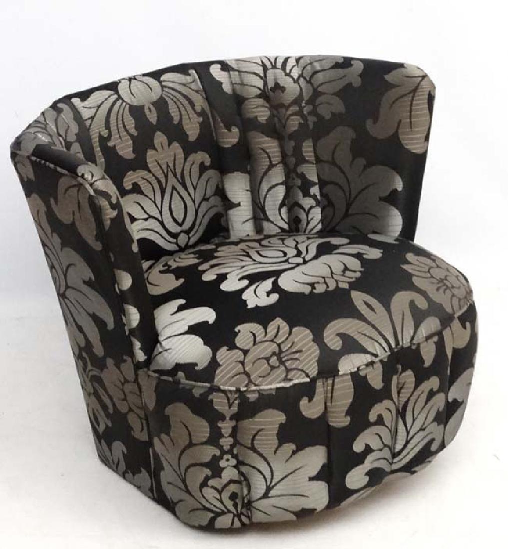 Art Deco : An Upholstered Octagonal Bedroom Chair.