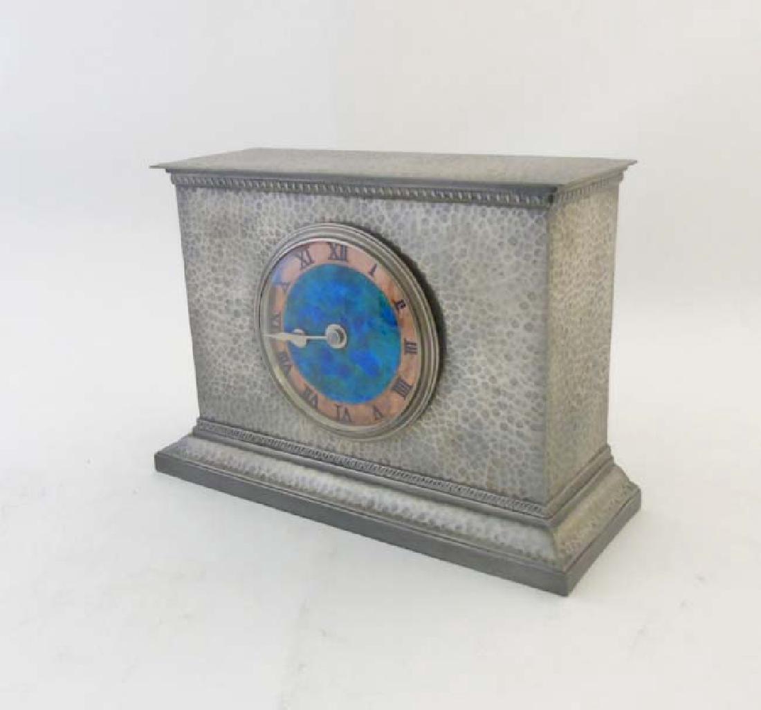 Liberty & Co Tudric Pewter Clock : an Archibald Knox