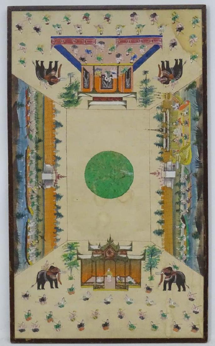 South East Asian c1900, Watercolour and gouache on - 3