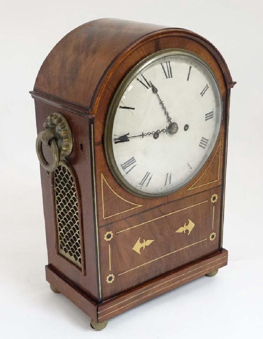 Regency Mahogany Bracket Clock : a mahogany cased ,