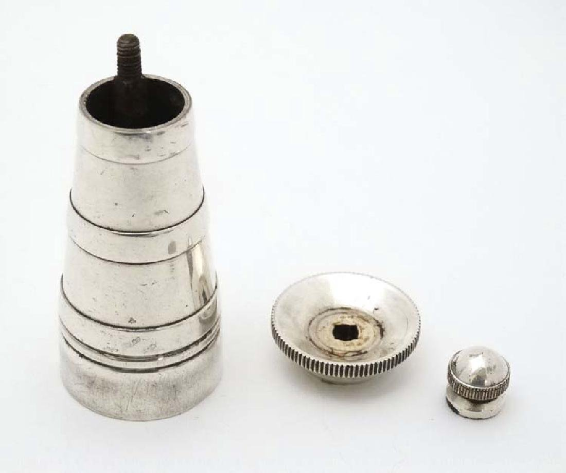 A silver plate pepper mill / grinder with mechanism - 2