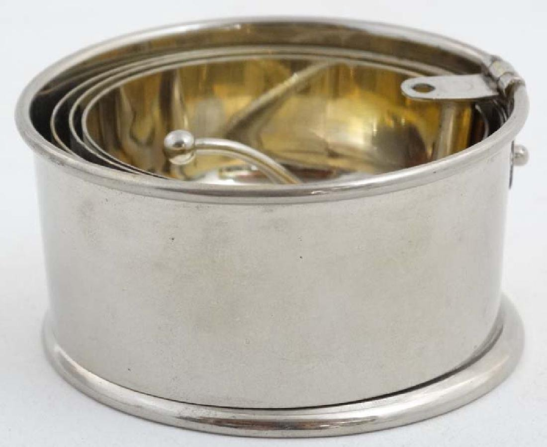 A silver plate expandable / travelling cup with gilded - 2