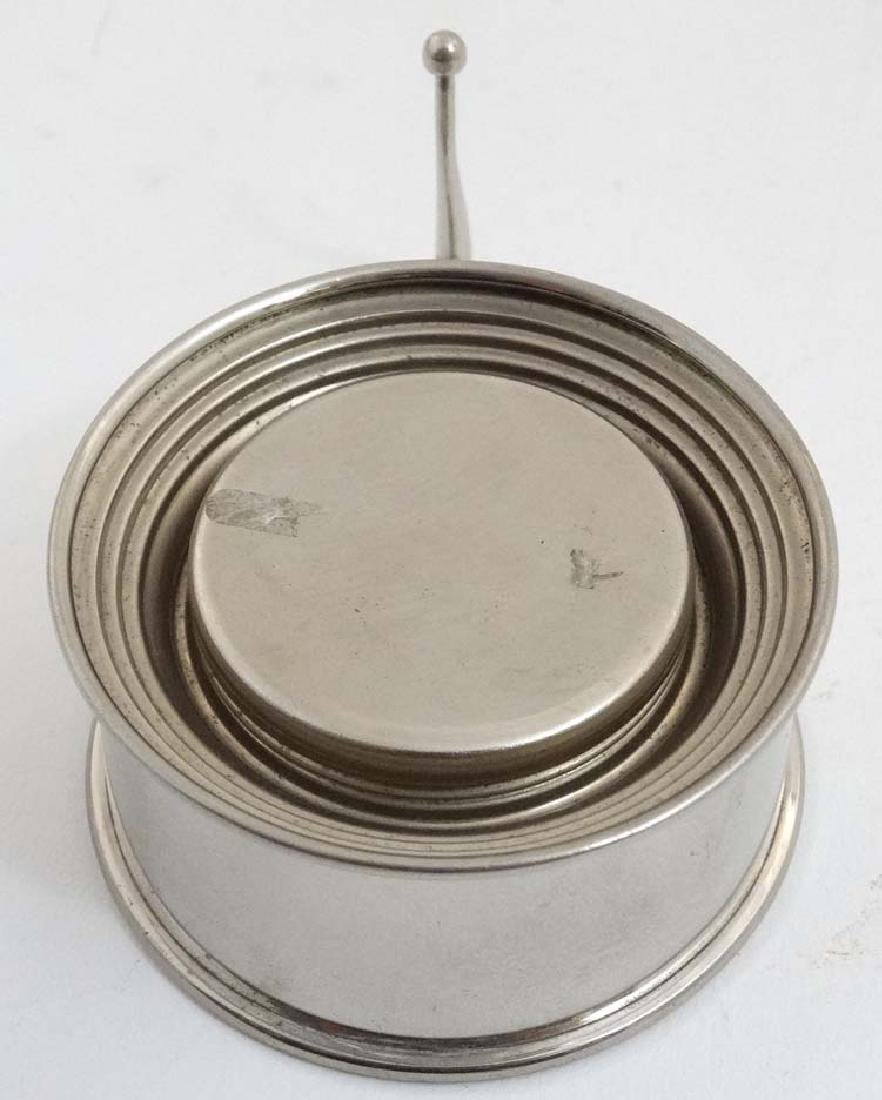 A silver plate expandable / travelling cup with gilded - 4