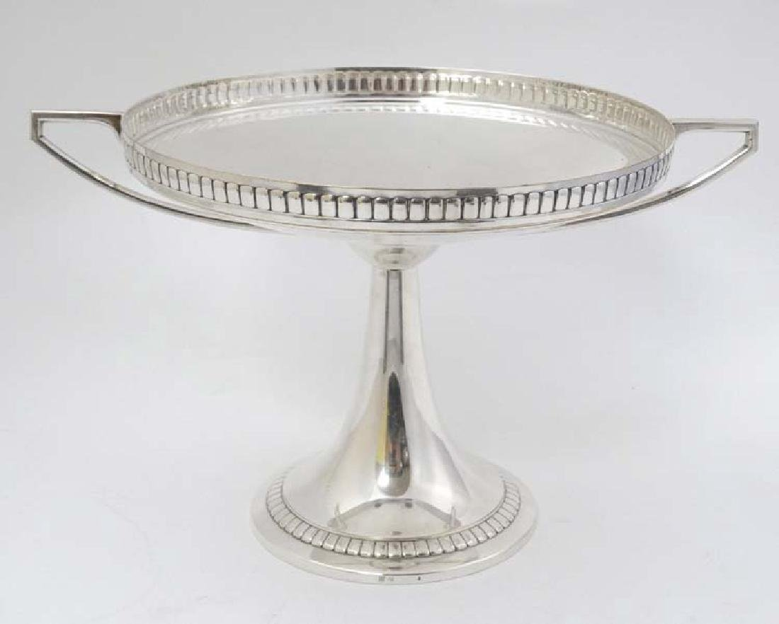 WMF : a large silver plate pedestal tazza  with 2