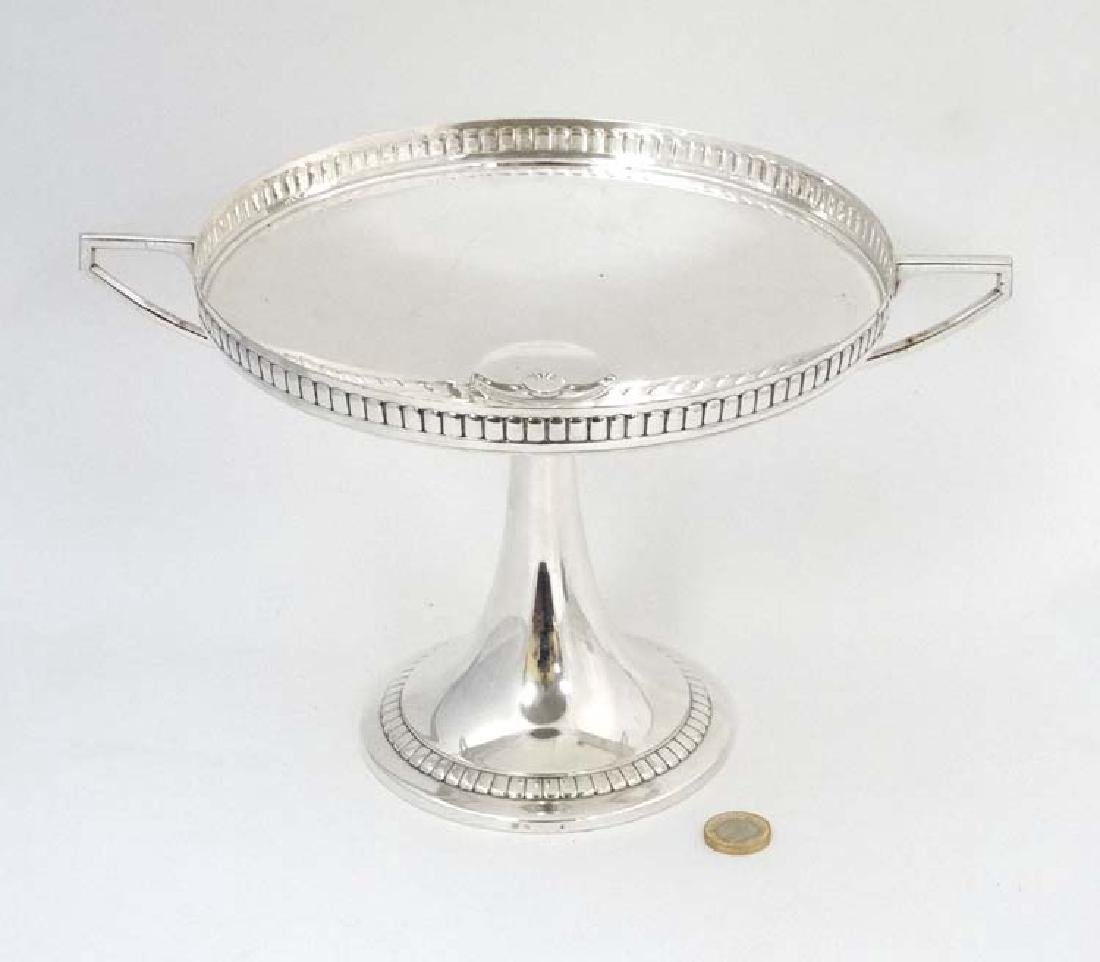 WMF : a large silver plate pedestal tazza  with 2 - 2