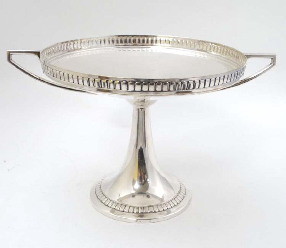 WMF : a large silver plate pedestal tazza  with 2 - 4