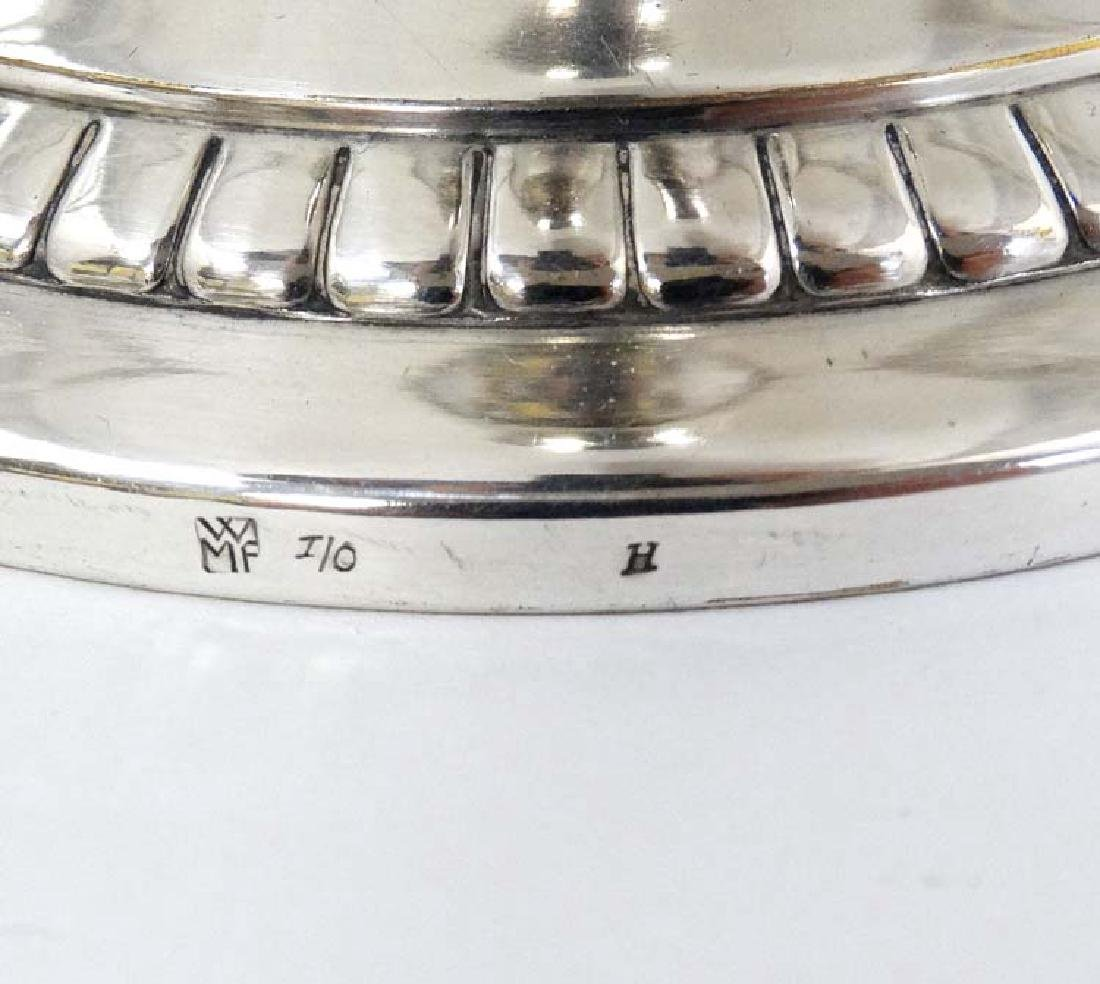 WMF : a large silver plate pedestal tazza  with 2 - 6