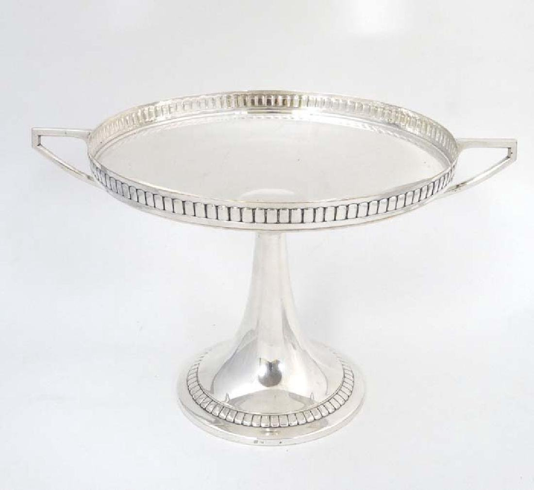 WMF : a large silver plate pedestal tazza  with 2 - 8