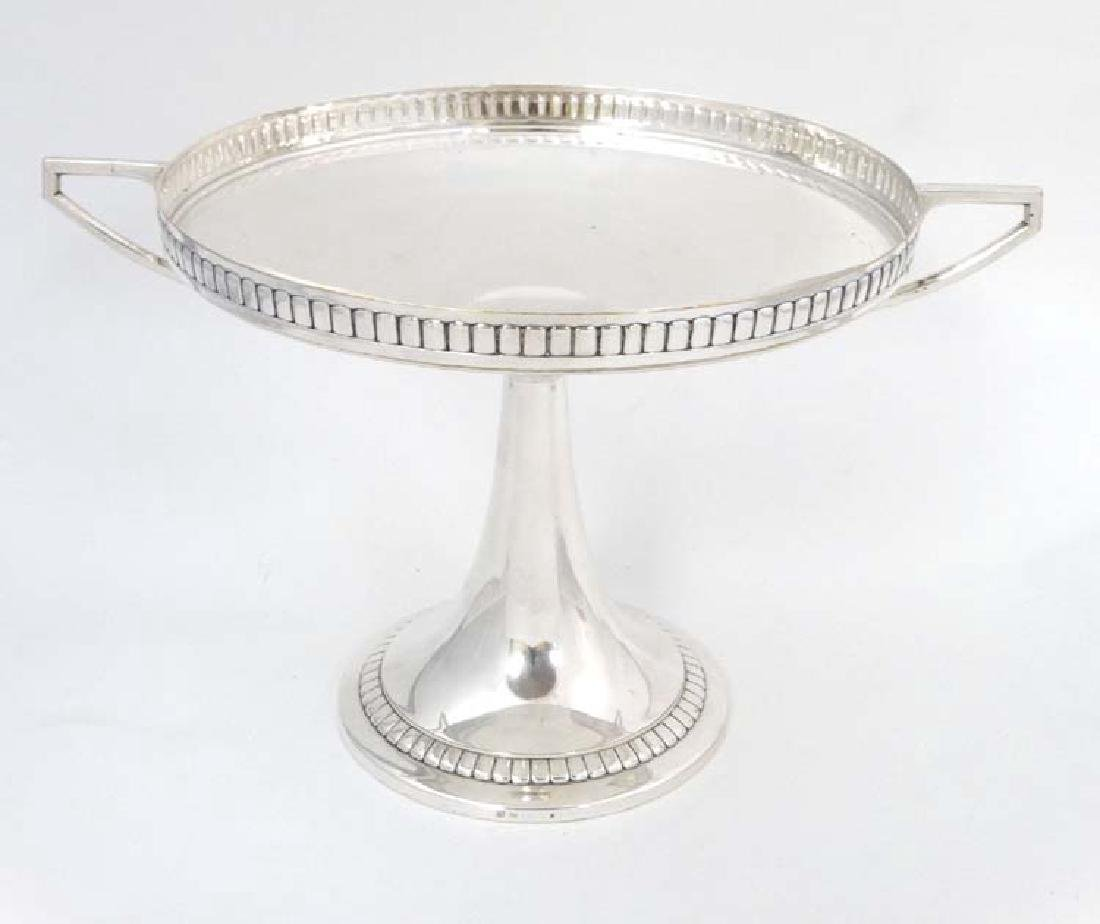 WMF : a large silver plate pedestal tazza  with 2 - 9