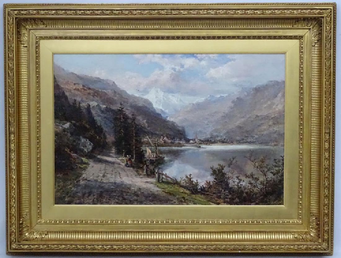 Robert Hudson XIX  Oil on canvas, Montreux Riviera