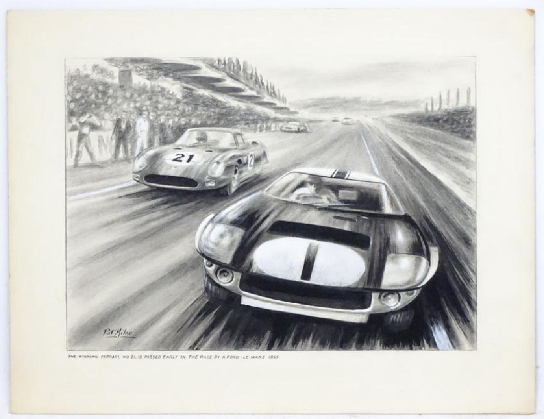 Patrick ' Pat ' Milne Automotive Art c.1955, Monochrome
