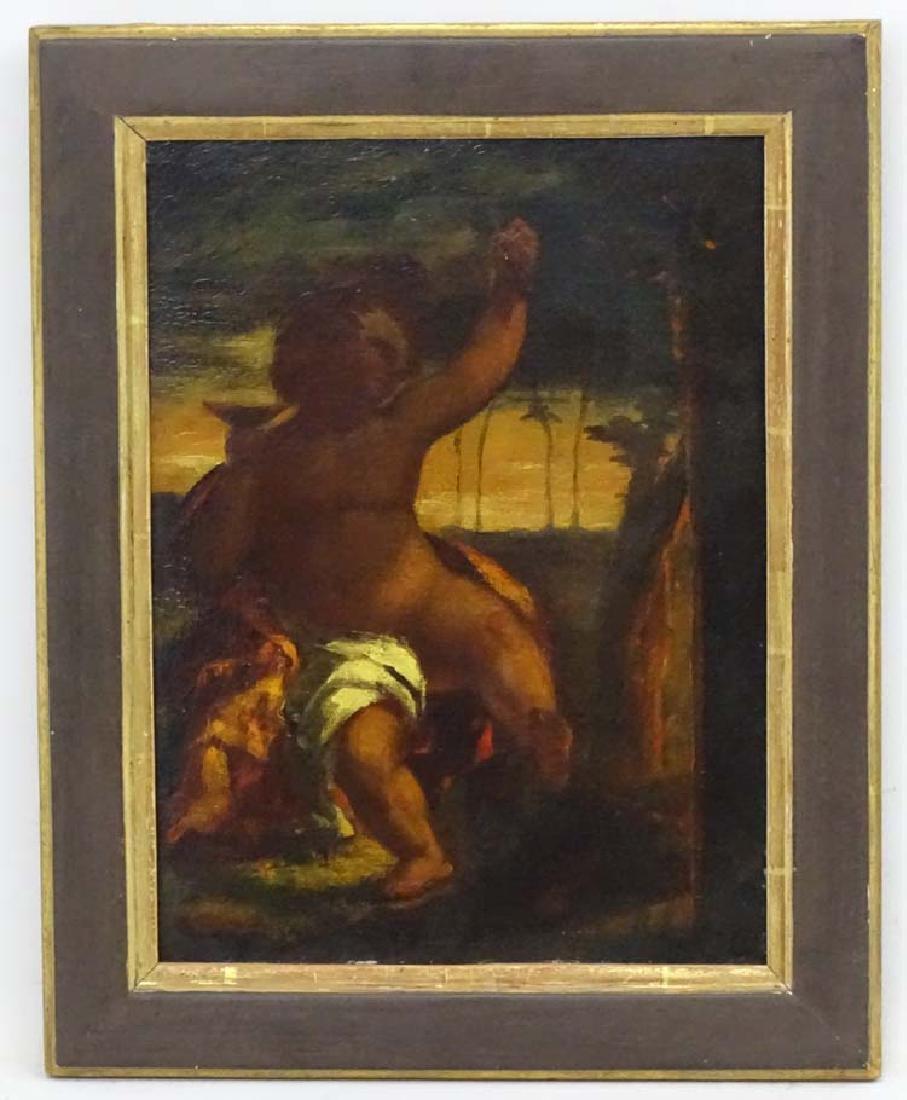 XVIII Italian School, Oil on canvas, Cherub or Putti