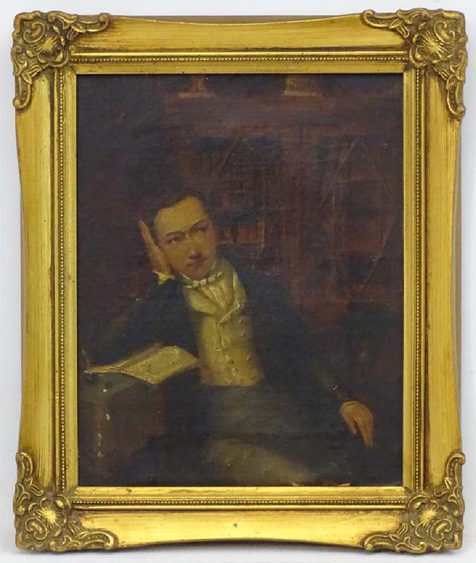 XIX English Portrait School, Oil on canvas, A