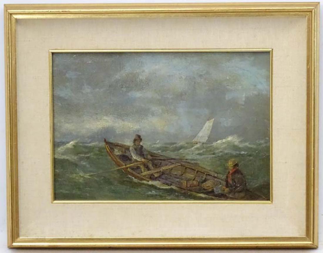 XIX Scandinavian School, Oil on board, Figures in a