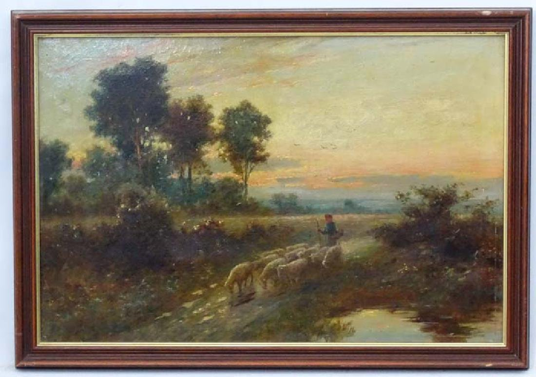 Indistinctly Signed XIX Dutch School  Oil on canvas