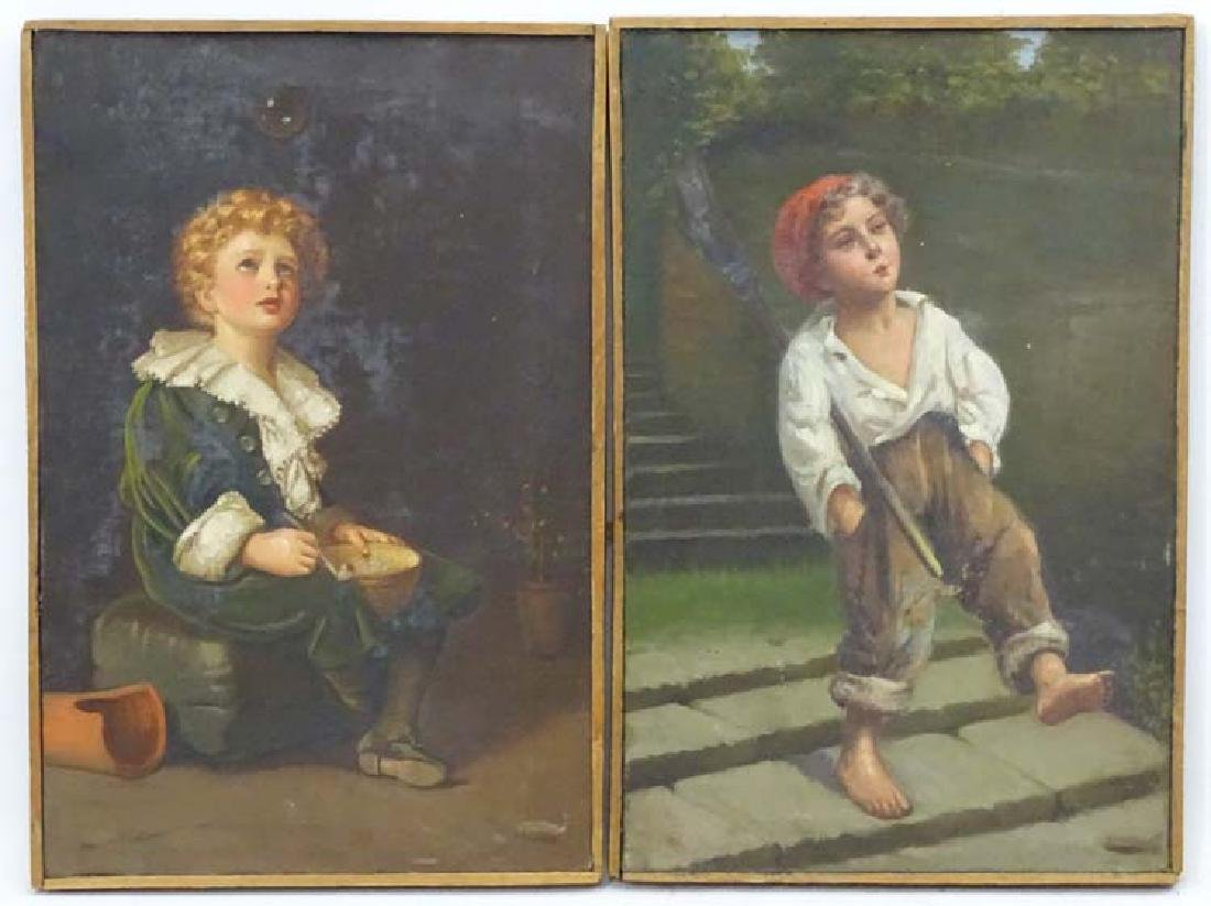 Early XX, Oil on canvas, a pair, After Millais,