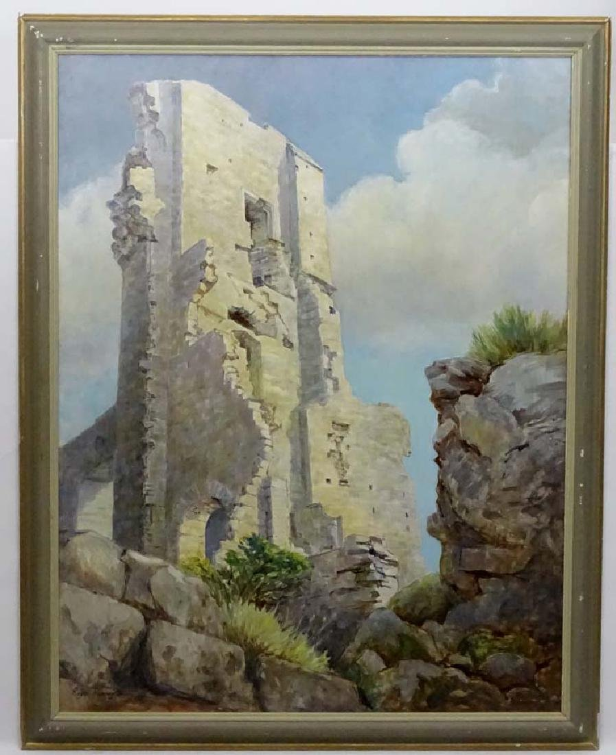 Roger Remington XX, Oil on board, ' Corfe Castle ' (