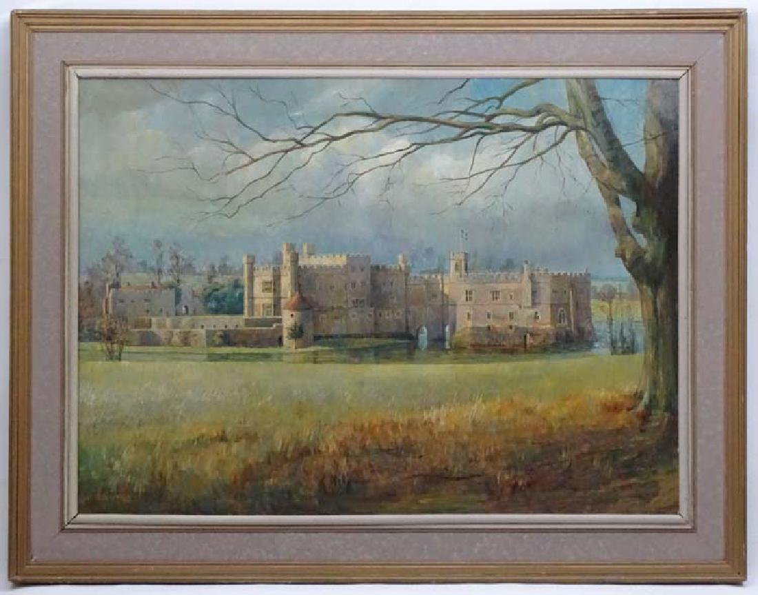 Roger Remington XX, Oil on board, Leeds Castle  ,Kent,
