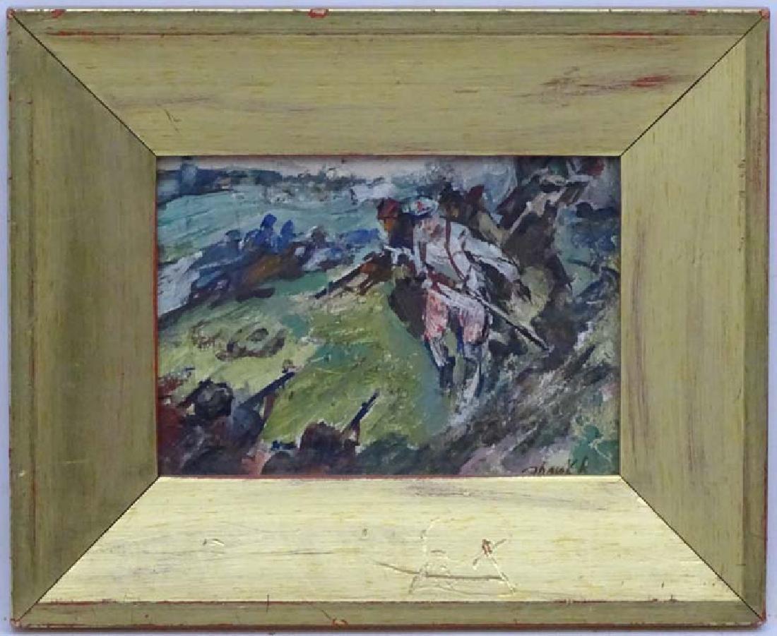 Vladimir Isaakovitch XX Russian School, Oil on card ,