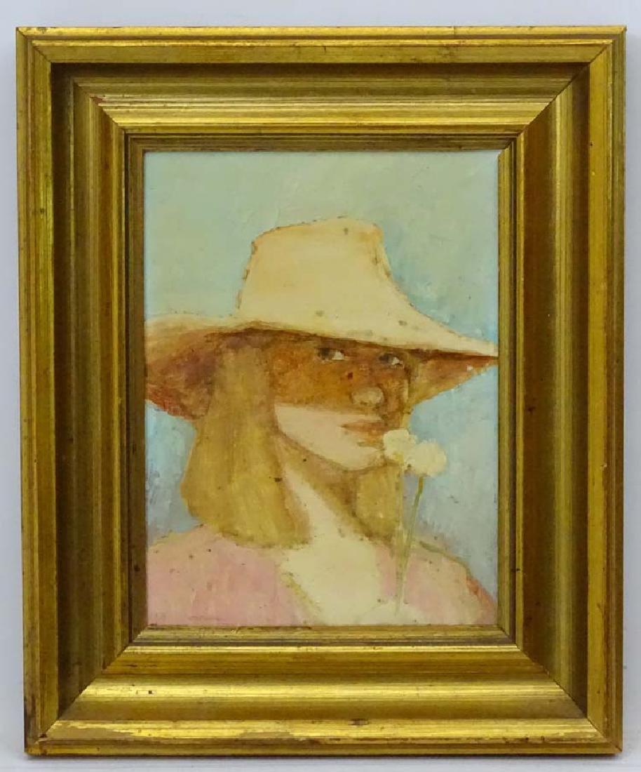 K. Hudson 1976, Oil on canvas board, pallet knife and