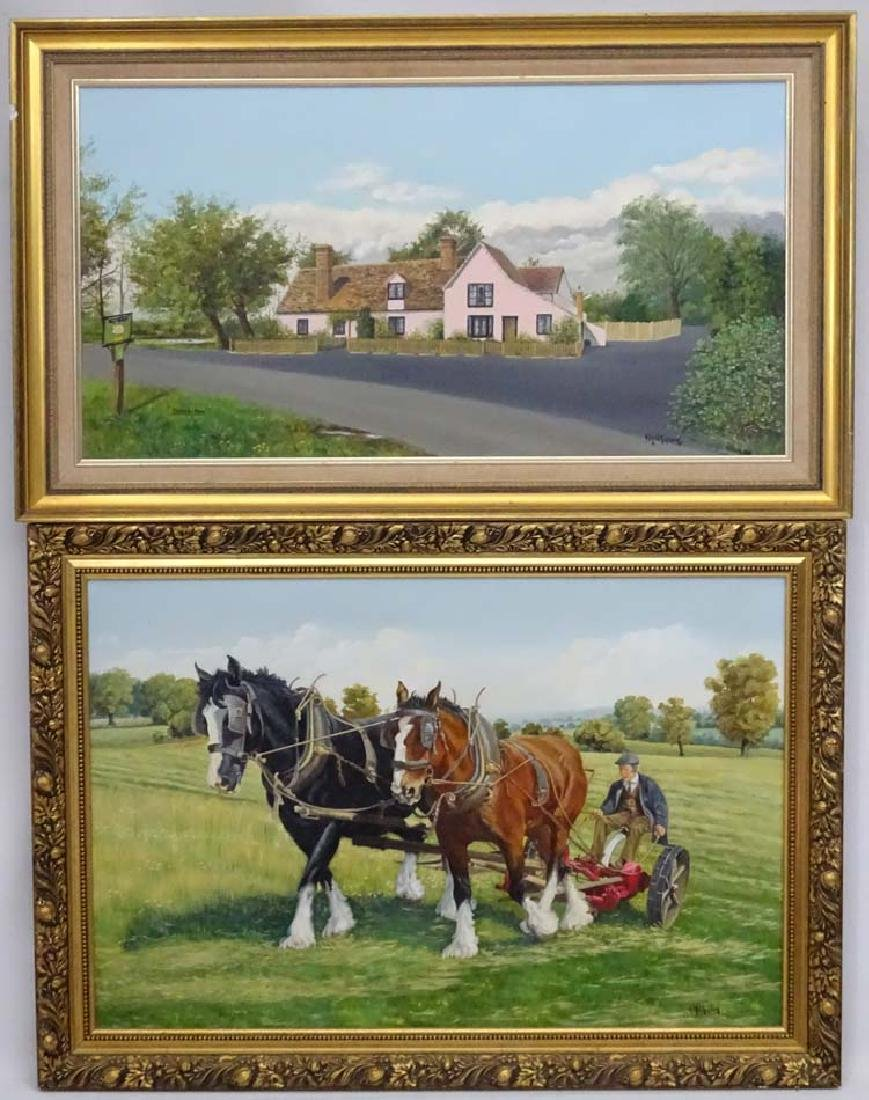 A.Wilkinson mid XX, Oil on canvas x 2, Horse drawn