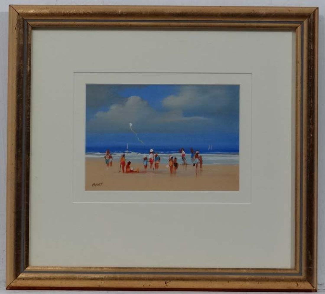 HART XX, Acrylic on board, Beach scene, Signed lower