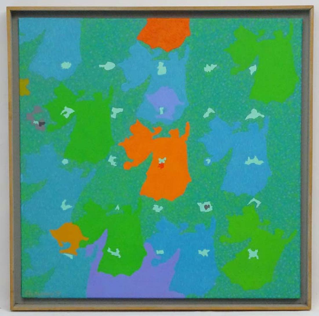 Eric Malthouse (1914-1997), Acrylic on canvas, 'Elegy