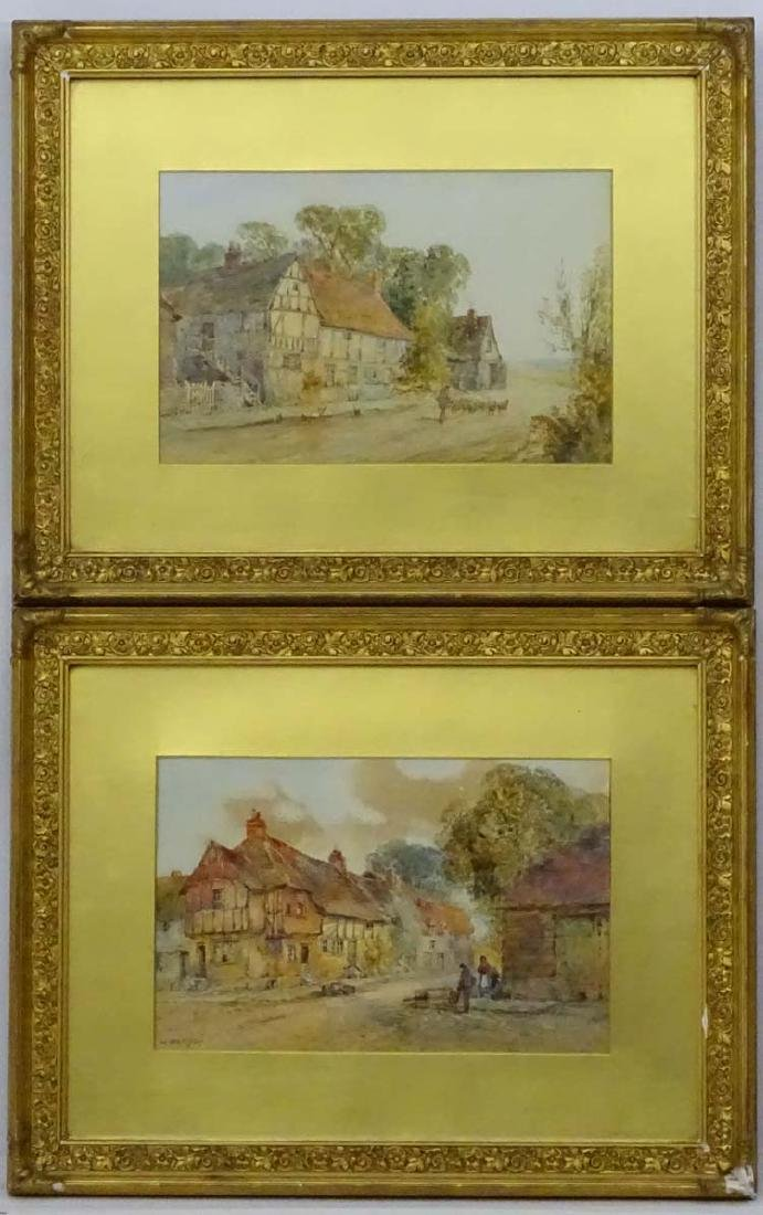 W Ramsey XIX, Watercolour, a pair, 'Old fashion Cottage