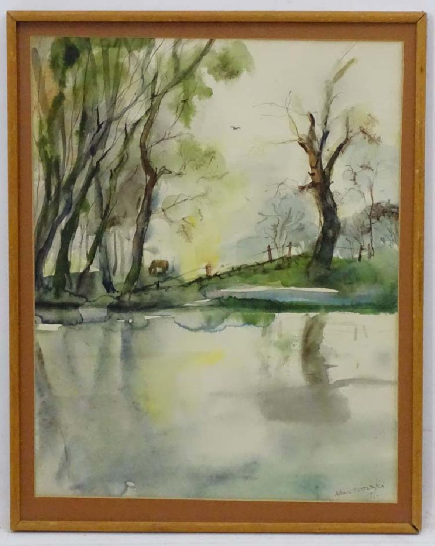 Alan Trosski ?1971 Continental School, Watercolour,