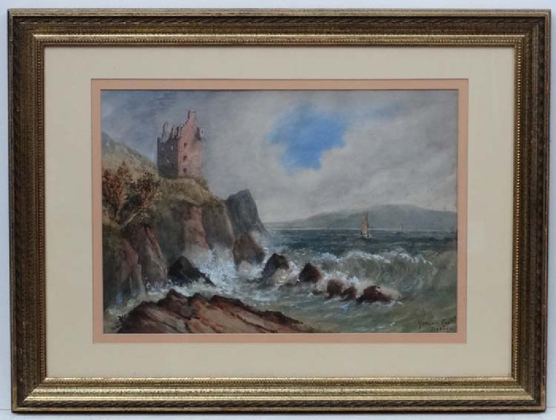 Indistinctly Signed XIX Scottish School, Watercolour ,