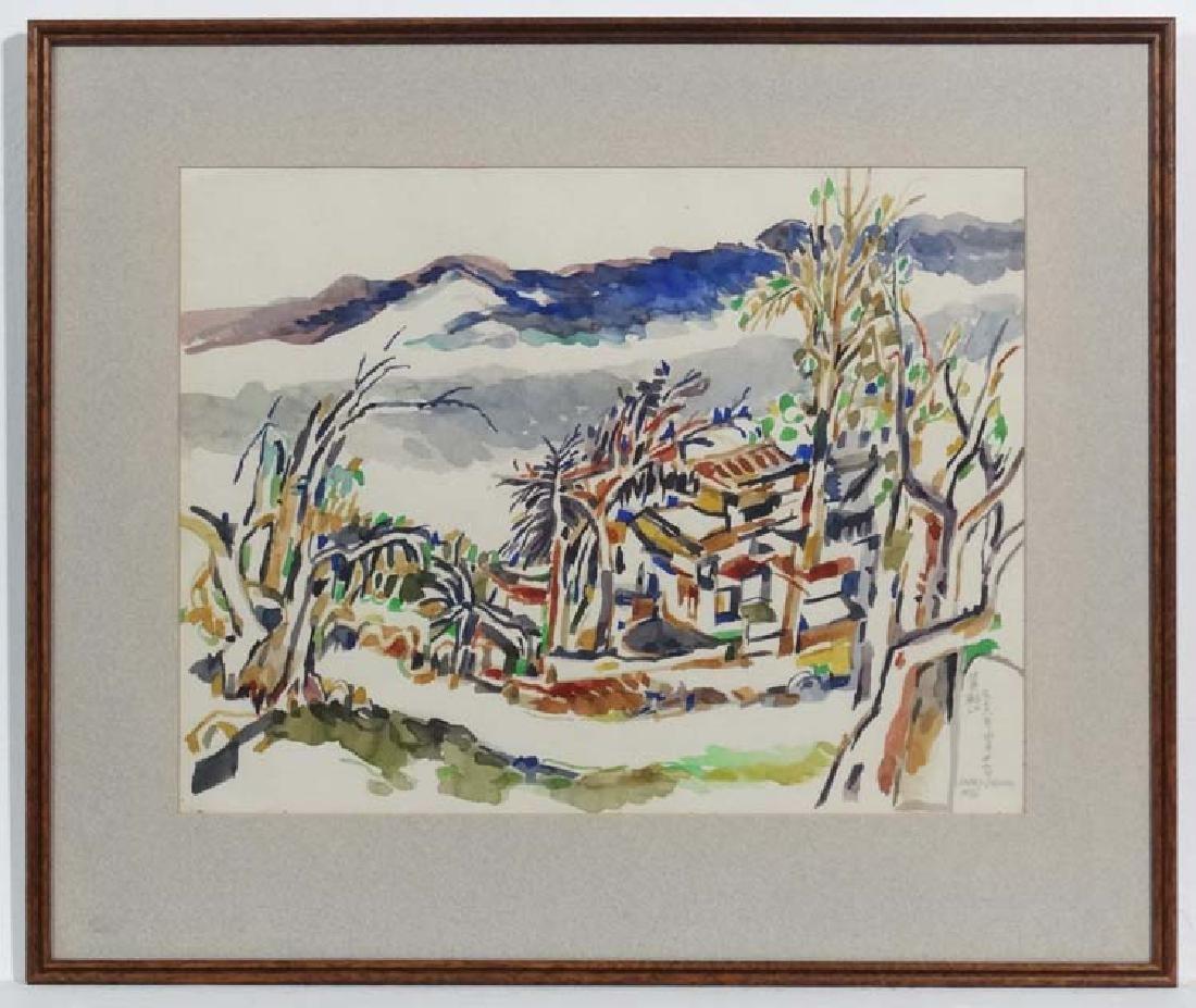 Wong Pui - Kong 1976 , Chinese, Watercolour, Landscape