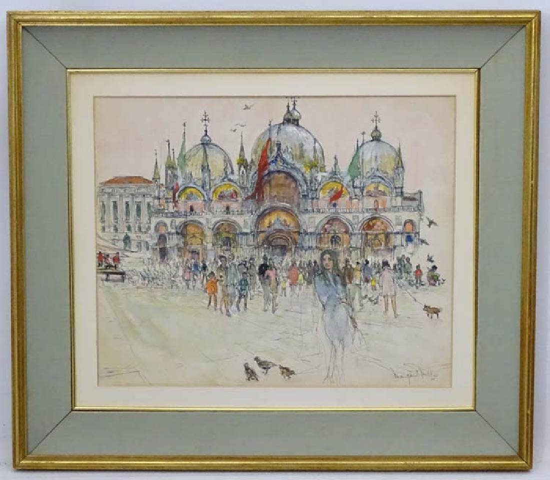 Margaret Milnes (1908-1998) Venetian School, Pen ink,